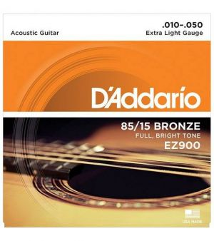 D'Addario EZ900 in bronzo 85/15 per chitarra acustica Extra Light 10-50