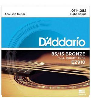 D'Addario EZ910 in bronzo 85/15 per chitarra acustica Light 11-52