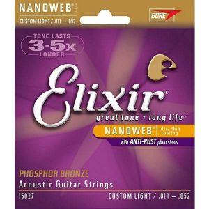 Elixir 16027 Phosphor Custom Light 11-52 Acoustic