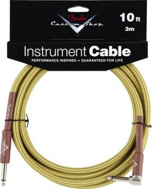 Fender Custom Shop Cable 10 Ft. Tweed Angled