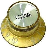 Parts Planet KSGGD CR V Manopola tipo Gibson SG Volume Gold Top Cromato