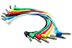 Rockcable by Warwick RCL 30011 D5 Patch Cable 15cm. 6 Cavi per Pedali Effetto