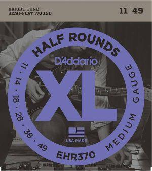 D'Addario EHR370 Half Rounds, Medium, 11-49