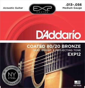 D'Addario EXP12 Coated Medium 13-56