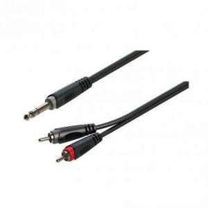 Soundsation GO-LINK JRR-30BK Cavo adattatore 6.3mm Jack maschio STEREO - 2xRCA maschio 3mt.