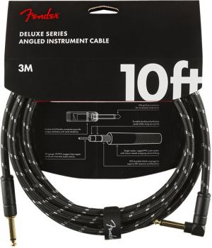 Fender Deluxe Series Instrument Cable Straight/Angle 10' Black