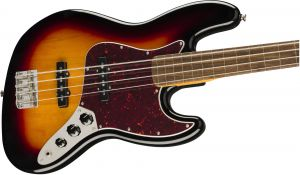 Squier Classic Vibe 60s Jazz Bass Fretless Laurel Fingerboard,3-Color Sunburst