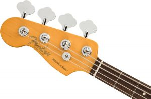 Fender American Professional II Precision Bass Left Hand Rosewood Fingerboard Olympic White Mancino