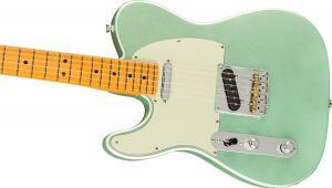 Fender American Professional II Telecaster Left-Hand Maple Fingerboard Mystic Surf Green Mancina