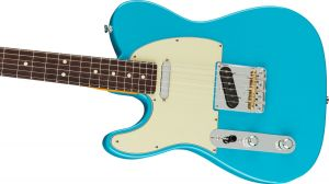 Fender American Professional II Telecaster Left-Hand Rosewood Fingerboard Miami Blue Mancina