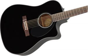 Fender CD60SCE Dreadnought Walnut Fingerboard Black Acustica Elettrificata