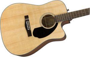 Fender CD60SCE Dreadnought Walnut Fingerboard Natural