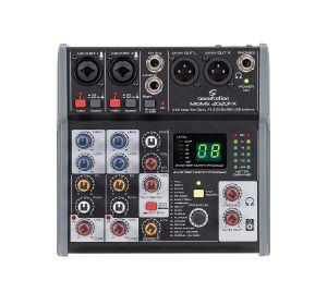 Soundsation MIOMIX 202UFX Mixer Audio Professionale con Multieffetto Digitale e Interfaccia Audio I/O USB